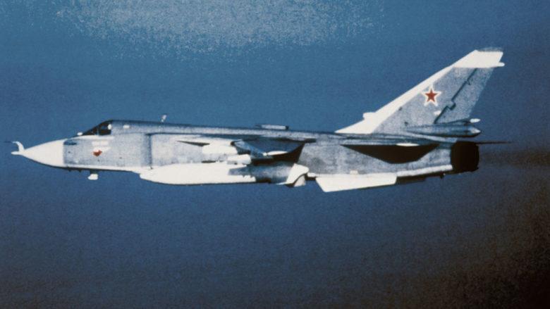 Bombardér SU-24 ruského letectva; Foto: US Army