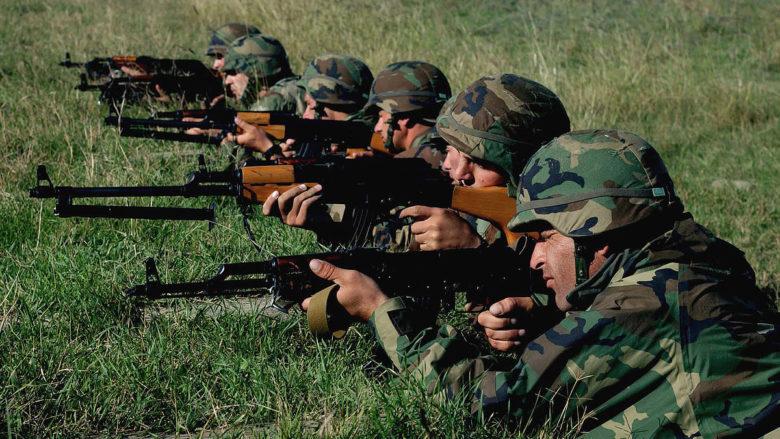 Gruzínští vojáci; Foto: Staff Sgt. Edward D. Holzapfel / Wikimedia Commons