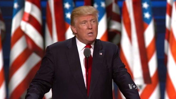 Bývalý americký prezident Donald Trump; Foto: Voice of America, Wikimedia Commons
