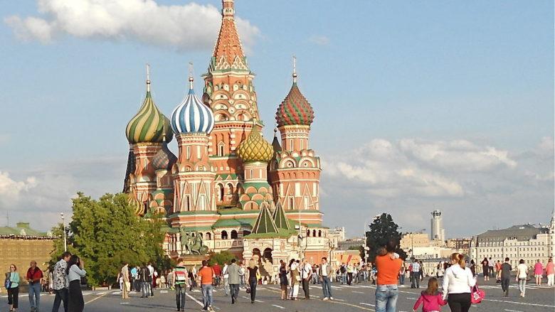 Chrám Vasila Blaženého v Moskvě; Foto: Intel Free Press / Wikimedia Commons