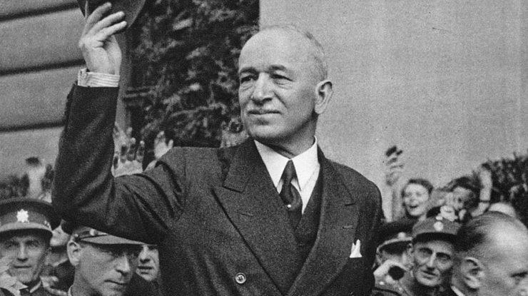 Prezident Edvard Beneš při návratu do Prahy, 16. května 1945; Foto: Wikimedia Commons