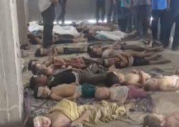 Oběti bojů v Sýrii; Foto: Mohammed Saeed, Wikimedia Commons