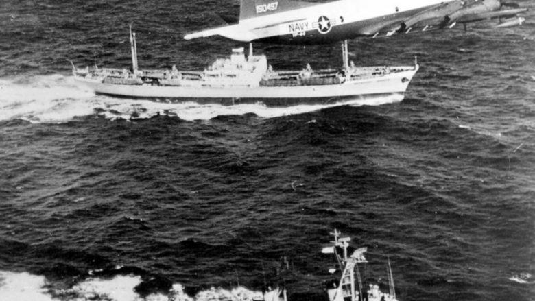 Námořní blokáda Kuby ze strany USA v roce 1962; Foto: Americké námořnictvo / Wikimedia Commons