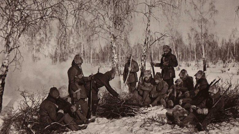 Hlídka čs. legionářů na Rusi; Foto: Wikimedia Commons