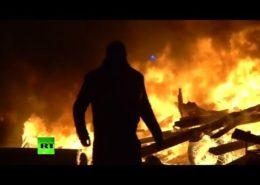 Demonstrace v Paříži; Repro: Youtube (RT)