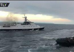 VIDEO: Ukrajinské lodě narušily ruské výsostné vody