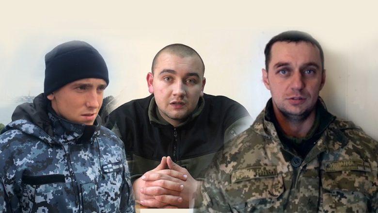 Zadržení ukrajinští vojáci; Foto: FSB