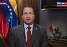 Velvyslanec Venezuely v Rusku Carlos Tortosa; Reprofoto: TV Rossija