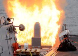 Vypuštění střely Tomahawk z odpalovacího zařízení Mk 41; Foto: Carmichael Yepez (US Navy) / Wikimedia Commons