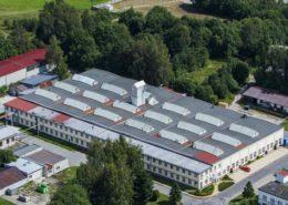 Areál firmy Backer Elektro CZ a.s. v Hlinsku; Foto: Mapy.cz
