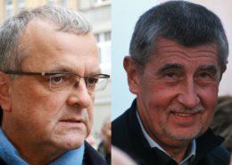 Miroslav Kalousek, Andrej Babiš; Foto: David Sedlecký, Martin Strachoň / Wikimedia Commons