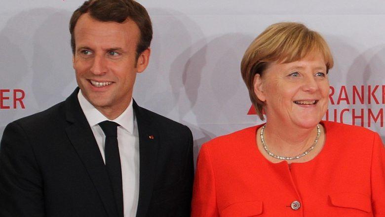 Emmanuel Macron, Angela Merkelová; Foto: ActuaLitté / Wikimedia Commons
