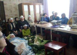 Pracovnice laboratoře v uhelném dole na Ukrajině, které drží hladovku; Foto: kvpu.org.ua