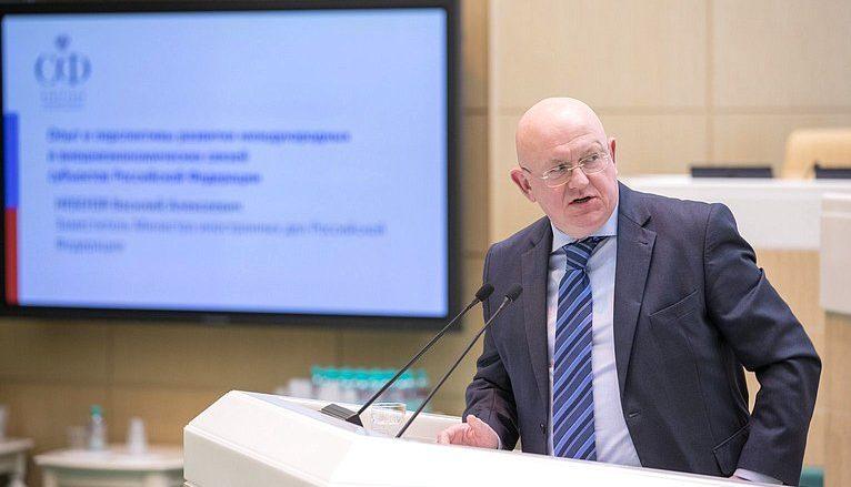 Stálý zástupce Ruska v OSN Vasilij Nebenzja; Foto:  Совет Федерации / Wikimedia Commons