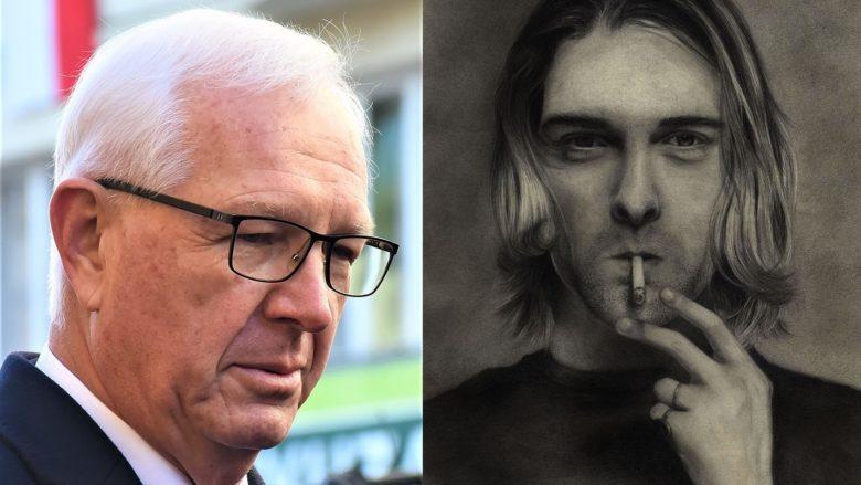 Jiří Drahoš, Kurt Cobain; Foto: David Sedlecký, Rose Robin / Wikimedia Commons