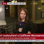 """VIDEO: Česká televize: """"Nad Národním divadlem přeletí rakev"""""""
