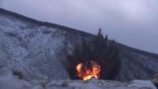 VIDEO: Ruská armáda odstřeluje půdní sesuv, aby zabránila povodním