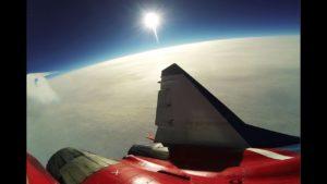 VIDEO: Jak vypadá let k hranicím vesmíru ruskou stíhačkou MiG-29