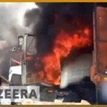 VIDEO: Venezuelská opozice zapálila kamiony s údajnou humanitární pomocí