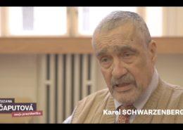 Karel Schwarzenberg v nemocnici; Foto: repro FB profil Zuzany Čaputové