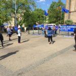 FOTOREPORTÁŽ: Na akci na podporu EU přišlo v Praze jen několik lidí