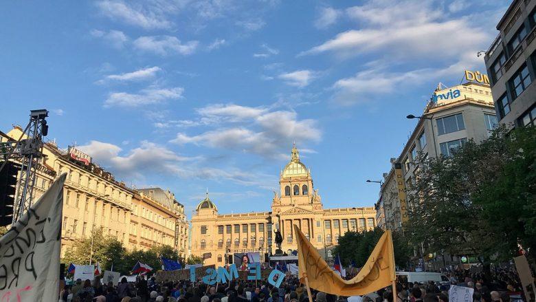 Demonstrace na Václavském náměstí v Praze; Foto: Martin2035 / Wikimedia Commons