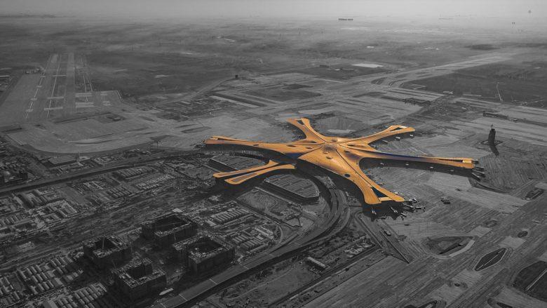 Nové letiště Daxing v Číně; Foto: Wang Zhitong / Wikimedia Commons