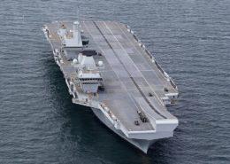 Britská letadlová loď HMS Queen Elizabeth; Foto: Britské ministerstvo obrany / Wikimedia Commons