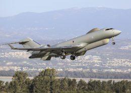 Špionážní stroj britského letectva Bombardier Global Express Sentinel R; Foto: Cpl Tim Laurence RAF / Wikimedia Commons