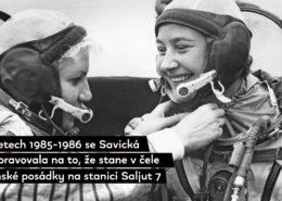 HISTORIE: Před 35 lety vystoupila do volného kosmu první žena na světě, Ruska Světlana Savická