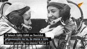 HISTORIE: Před 37 lety vystoupila do volného kosmu první žena na světě, Ruska Světlana Savická