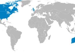 """Mapa zemí """"Pěti očí""""; Ilustrace: Applysense / Wikimedia Commons"""