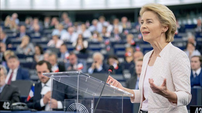 Ursula von der Leyen představuje svou vizi europoslancům; Foto: Evropský parlament / Wikimedia Commons