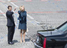 Francouzský prezident Emmanuel Macron se svou manželkou; Foto: Wikimedia Commons