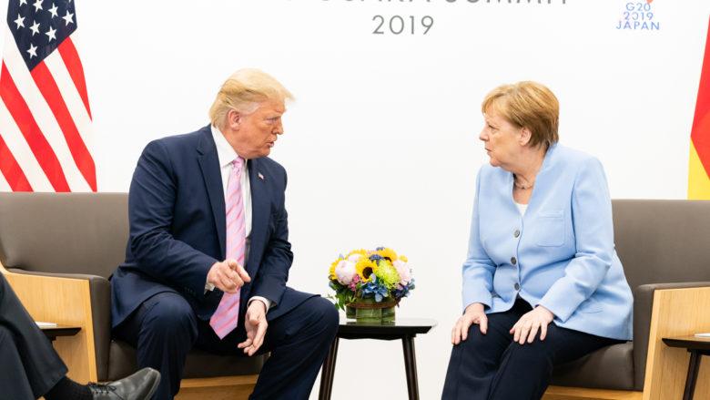 Americký prezident Donald Trump a německá kancléřka Angela Merkelová; Foto: Bílý dům / Wikimedia Commons