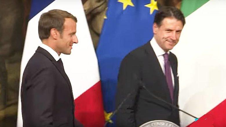 Francouzský prezident Emmanuel Macron a italský premiér Giuseppe Conte; Foto: Repro YouTube France 24