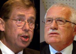 Bývalí prezidenti Václav Havel a Václav Klaus; Foto: Mezinárodní měnový fond, DerHuti / Wikimedia Commons