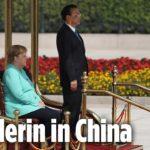 VIDEO: Německá kancléřka Merkelová při návštěvě Číny opět seděla