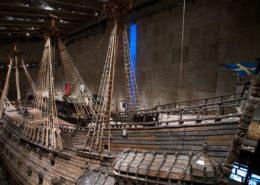 Švédská válečná loď ze 17. století; Foto: OneHungLow / Wikimedia Commons