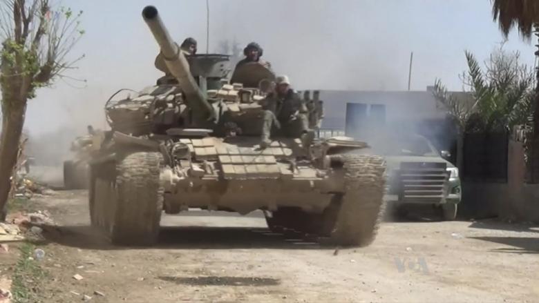 Tanky syrské armády; Foto: Zlatica Hoke (VOA) / Wikimedia Commons