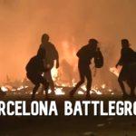 VIDEO: Barcelona se stala bitevním polem