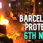 VIDEO: Ve španělské Barceloně pokračují masové protesty