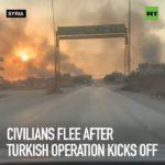 VIDEO: Civilisté prchají ze severu Sýrie před tureckou armádou