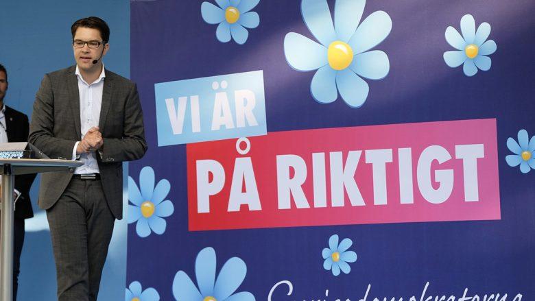 Předseda strany Švédští demokraté Jimmie Akesson; Foto: News Oresund / Wikimedia Commons