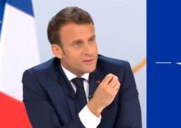 Francouzský prezident Emmanuel Macron; Foto: Repro YouTube