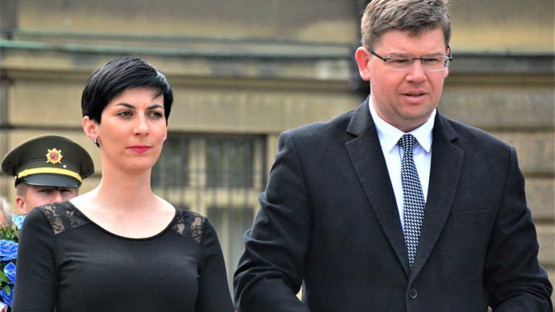 Předsedkyně TOP09 Markéta Pekarová Adamová a europoslanec Jiří Pospíšil; Foto: David Sedlecký / Wikimedia Commons