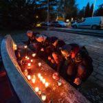 VDĚČNOST: Jaroslav Foldyna uctil památku zesnulých u hrobů Rudoarmějců
