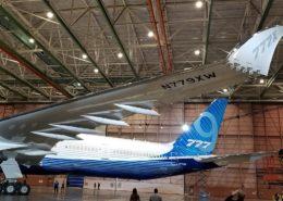 Prototyp letounu Boeing 777X; Foto: Dan Nevill / Wikimedia Commons