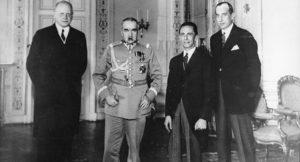 Přijetí Josepha Goebbelse u polského maršála Pilsudského 14. června 1934; Foto: Röhnert / Bundesarchiv / Wikimedia Commons