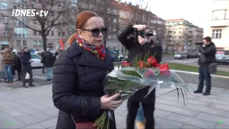 Vnučka maršála Koněva Jelena Koněvová; Foto: Repro iDNEStv